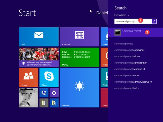 Search for cmd in Windows 8.1